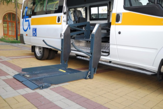Side load wheelchair van