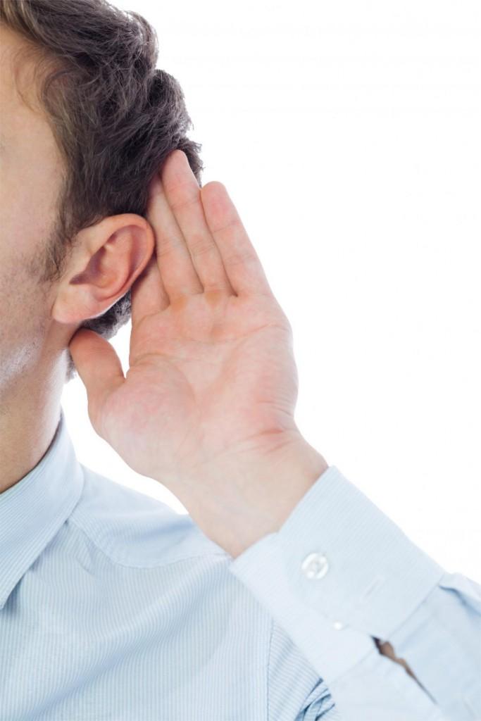 listening businessman