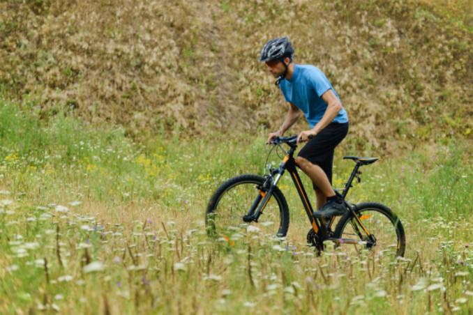 mountain biker in field: MaxAutoPro Travel Blog